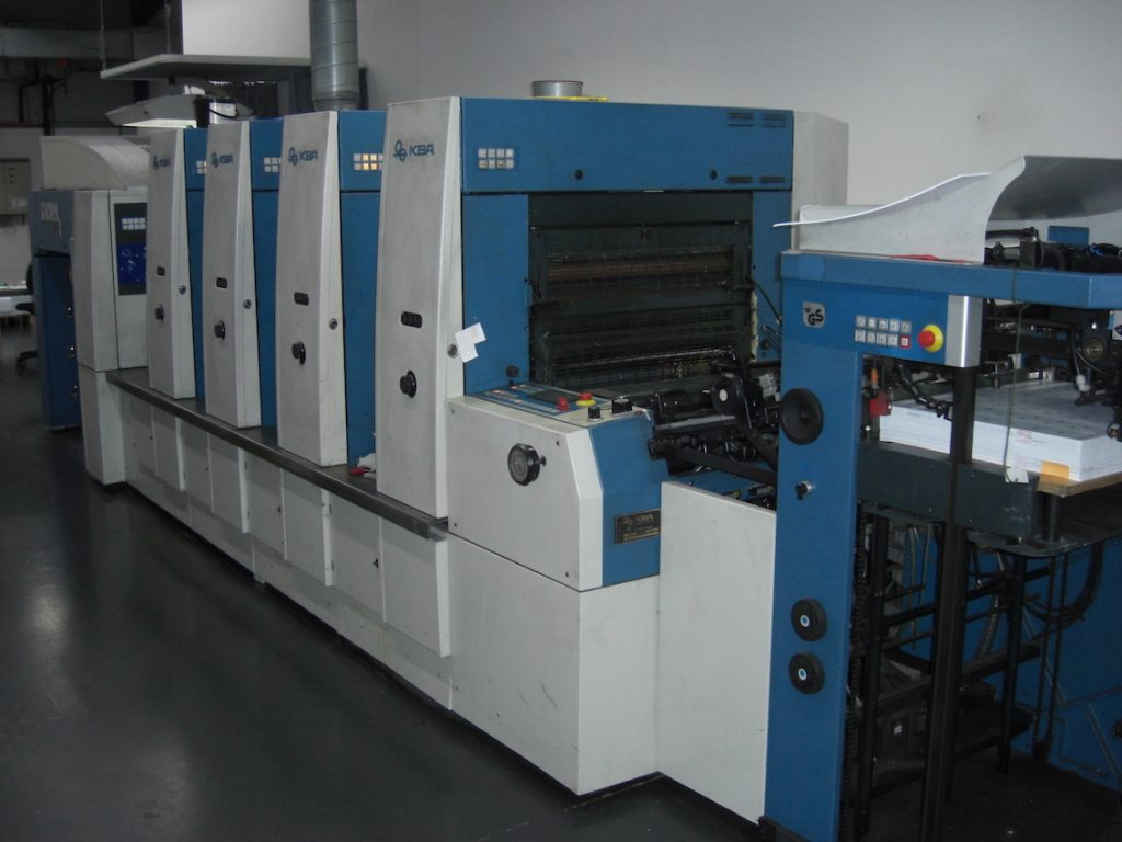 Rapida 74-4 PWHA with UV dryer and Rainbow Printing Unit